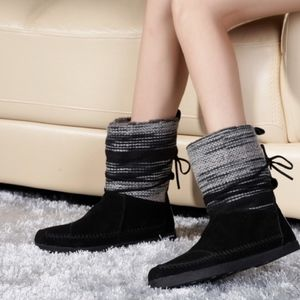 Toms Black & Grey Knit Nepal Boots